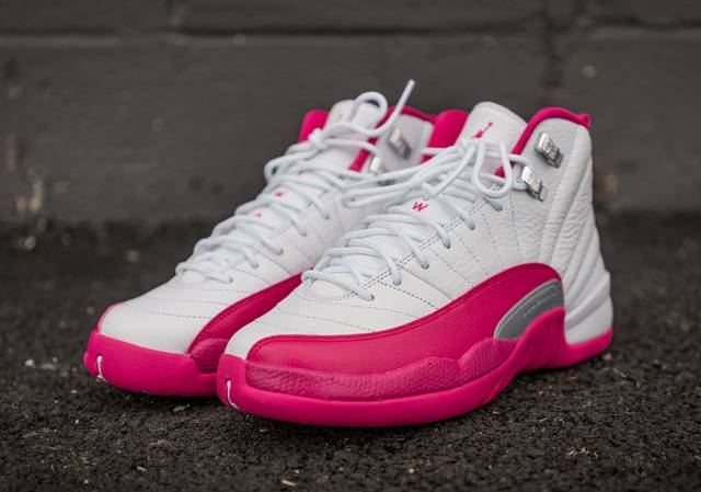 nike air jordan 12 pink and white