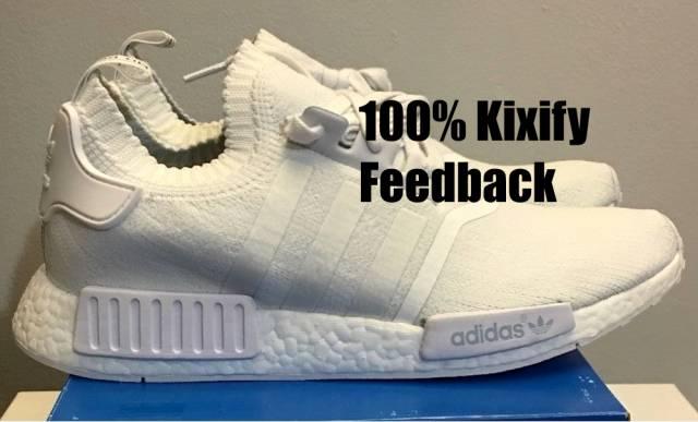 Adidas NMD PK R1 Monochrome Pack white  ef7f41425c
