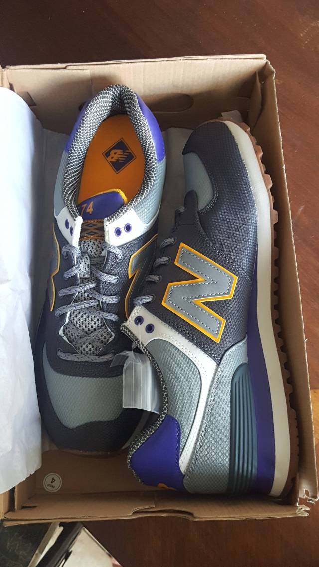 cheaper fashionable patterns double coupon New Balance Men 574 Weekend Expedition Ml574exa (gray /... Size 9