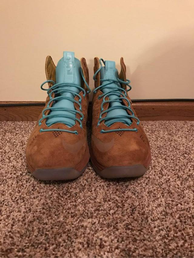 sneakers for cheap 1f8bf 14e69 Nike Lebron X 10 EXT Hazelnut Brown Suede Size 13