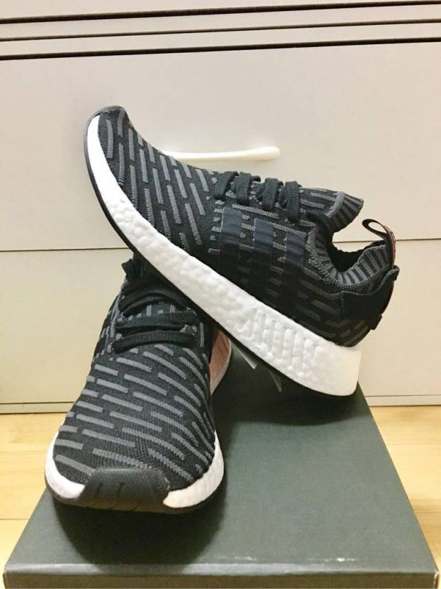 46b0f683abdce3 Adidas NMD R 2 PK Black Brown Core Pink Women 8.5   10.5US