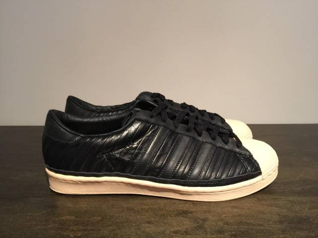 new style 6aed6 54605 Adidas Original Superstar Vin Vintage Black Leather New Ds