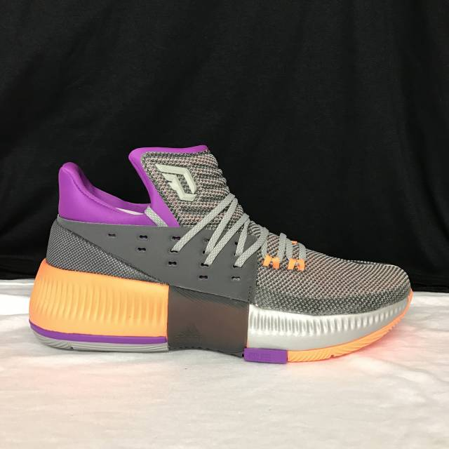 competitive price 1c524 897b4 ... Adidas Dame 3 Grey Purple Orange All Star BB8270 ...