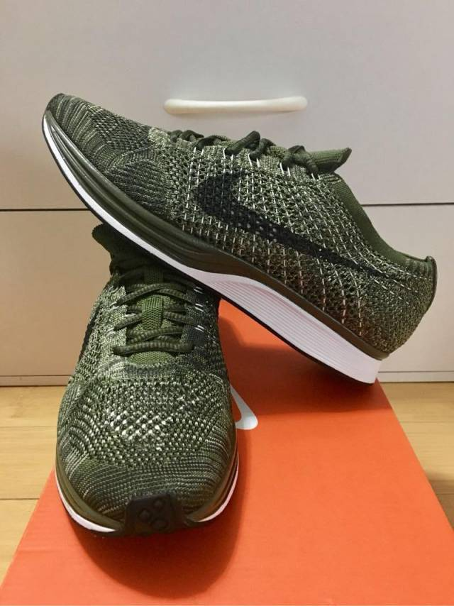 5af5f787173b Nike Flyknit Racer Neutral Olive Rough Green Black 7-10US