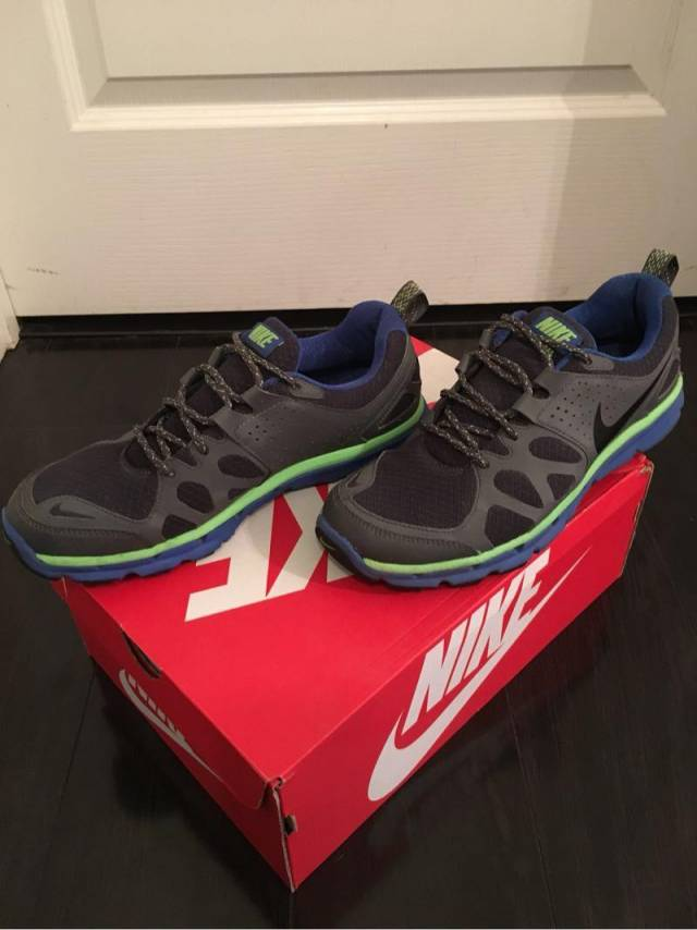 f7e0d3089f517 Nike Flex Trail Anthracite Black-Royal-Green