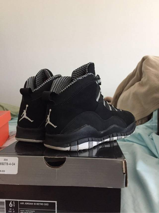 brand new ddcef 79d7b Jordan Retro 10 Stealth GS