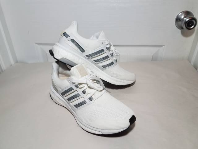 sports shoes 0840a ebc0c adidas Energy Boost 3 M White Charcoal Grey Running Sneaker
