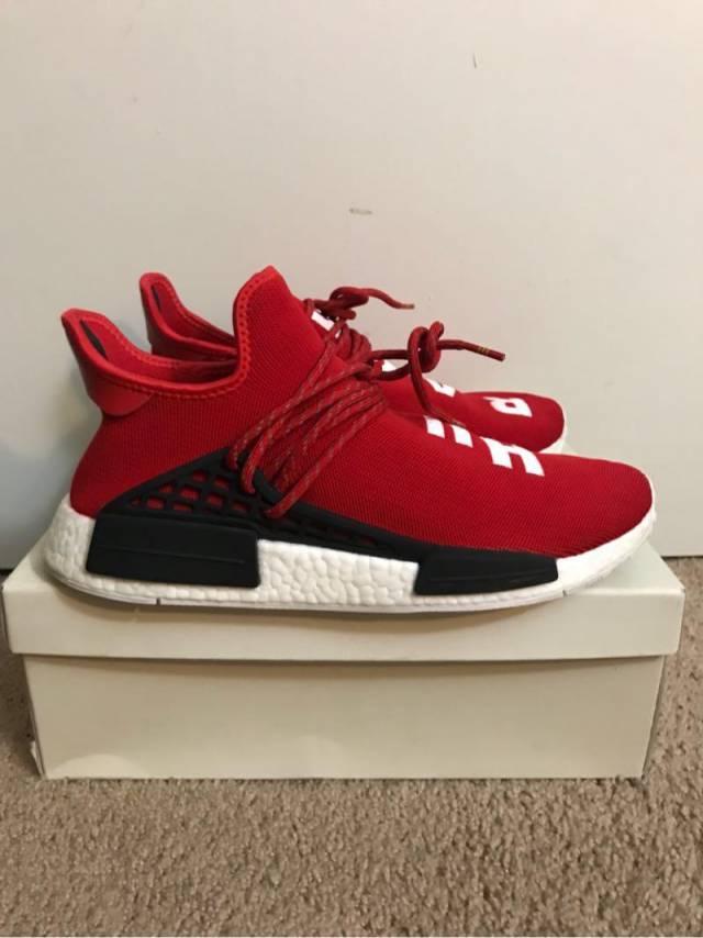 Pharrell x Adidas NMD raza humana Rojo escarlata kixify Marketplace