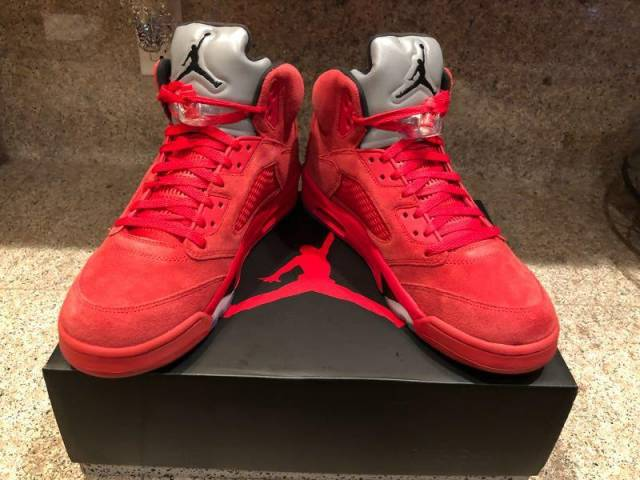 a992bdf4bfb Air Jordan 5 Red Suede 12 Gym Yeezy Bred Altitude Win UNC OG ...