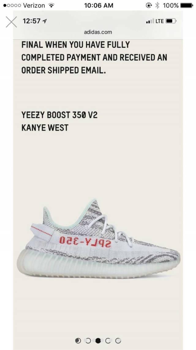 adidas Yeezy Boost 350 V2 Blue Tint Size 13