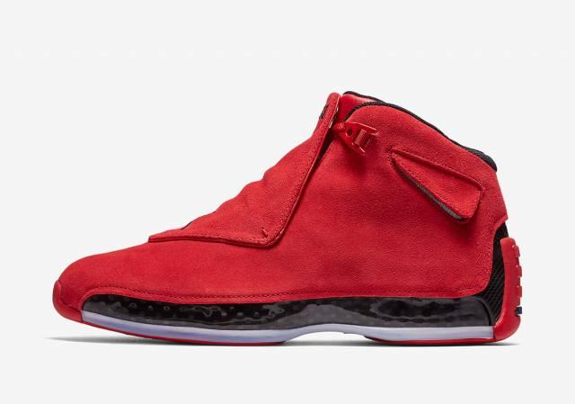 AA2494-601) Air Jordan 18 XVIII Red