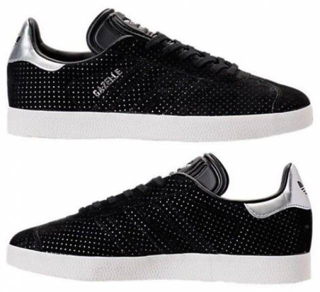 Adidas Gazelle Womens Black And White