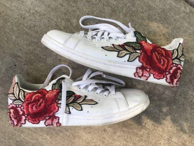 "a6eee470761b5 adidas Stan Smith ""Floral Day"" (Custom)"