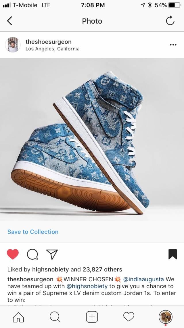 Louis Vuitton x Supreme Jordan 1