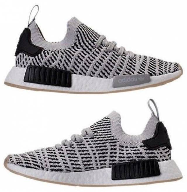 53394f165 ... cheapest adidas nmd runner r1 stlt pk mesh casual mens grey core black  authentic new 1be16