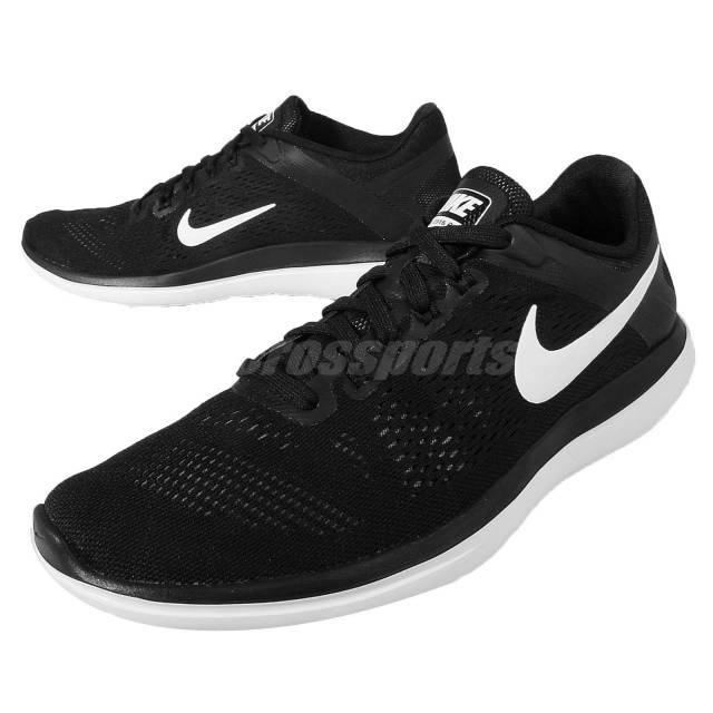 new arrival fca4a c106f Nike Flex 2016 RN Run Black White Mens Running Shoes Sneaker 830369-001