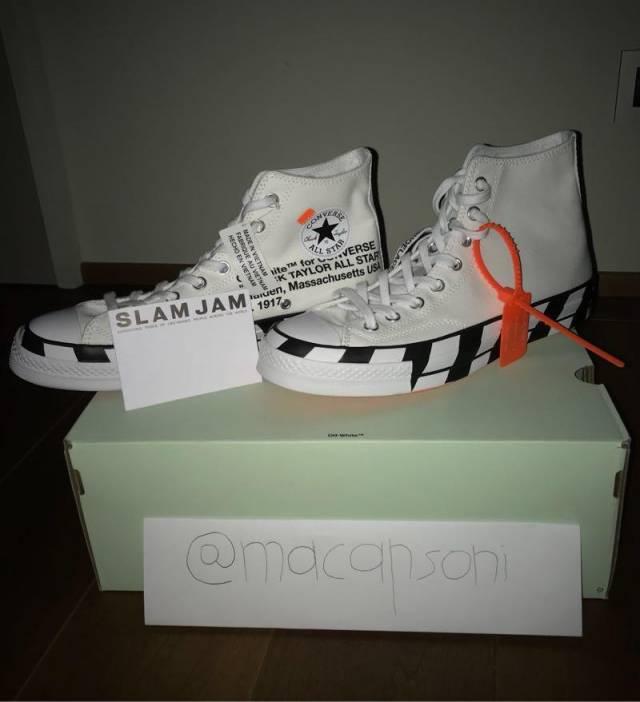 e15bda96f41146 OFF-WHITE x Converse Chuck 70 Stripe