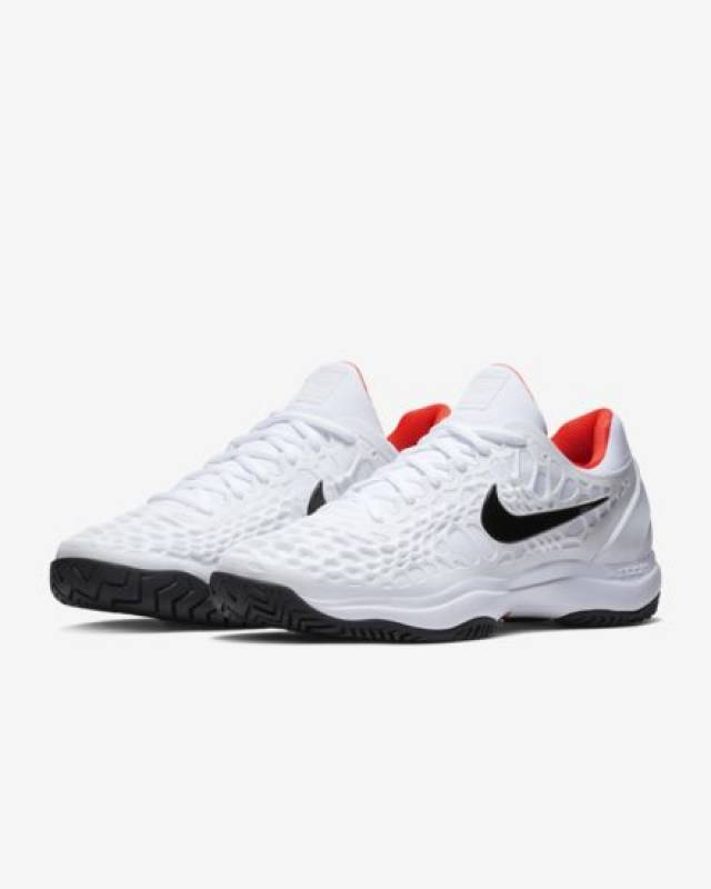 ee6f2ab618d2 NikeCourt Zoom Cage 3 White Bright Crimson 8-14 Mens