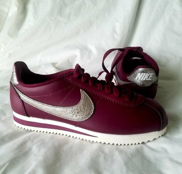 in stock reasonable price outlet store sale Nike Cortez Prem Bordeaux Wine Purple Sz 8 Size 8