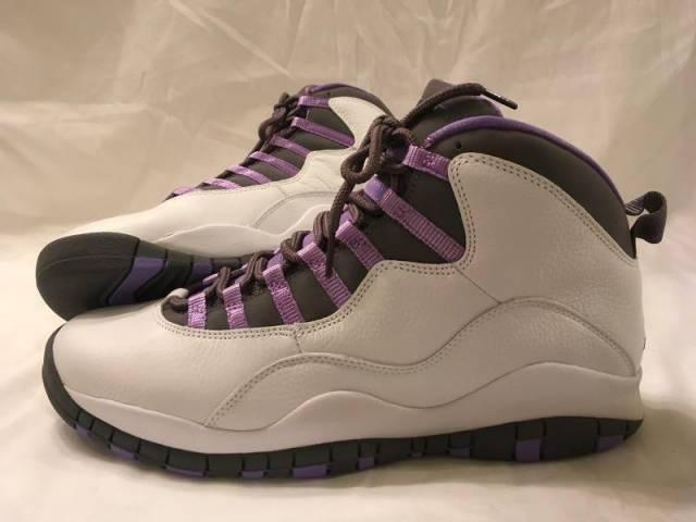 Air Jordan 10 Retro White Medium Violet