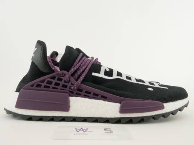watch 2a4cf 5600f Pharrell X Adidas Nmd Hu Trail Holi Black Size 11