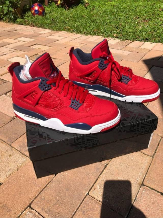 wholesale online incredible prices wholesale price Nike Air Jordan 4 Fiba Gym Red