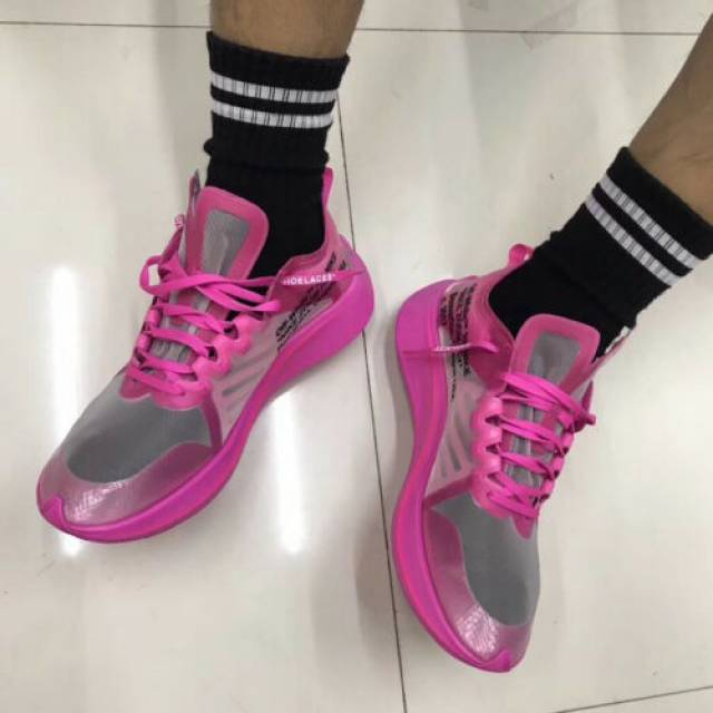 Off-White X Nike Zoom Fly SP Pink Size