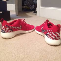 Custom nike roshe run american...
