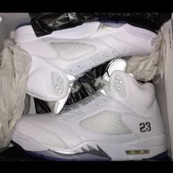 Nike air jordan retro 5 white ...