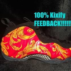 Nike red supreme foamposite