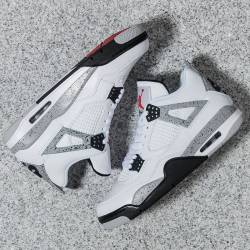 Nike air jordan 4 iv cement wh...