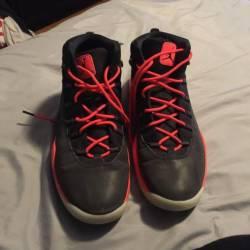 Jordan black infared 23 size 9.5