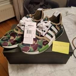 Bape x adidas nmd green camo