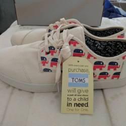 Toms republicans size 12