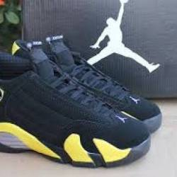 Jordan retro 14 black and yellow