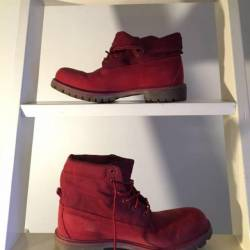 """Red timberland 6"""" boots, with ..."""