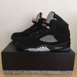b543b28d71b5e4  300 Air jordan 5 og 90 - black me... Jordan 5 metallic