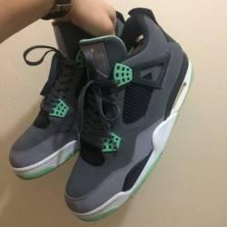 Air jordan 4 green glow us10.5