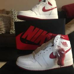 Air jordan 1 og- metallic red