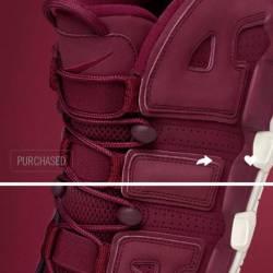 Nike air more uptempo burgundy...