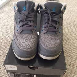 Jordan 3 cool grey blue