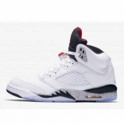 Jordan 5 retro white cement w ...