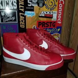 Nike blazer red/white size 11