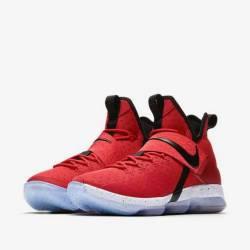 Nike lebon 14 red white