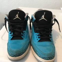 Jordan 3 retro powder blue men...