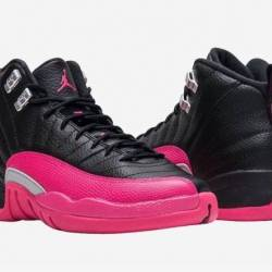Air jordan 12 gs black pink ex...