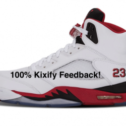 3air jordan 5 fire red (black ...
