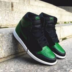"Custom ""viral green"" air jorda..."