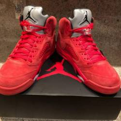 Air jordan 5 red suede 12 gym ...