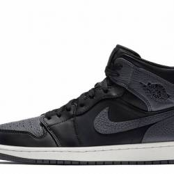 Air jordan 1 mid black dark gr...